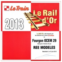 ree rail or 2013 le train fourgon ocem h0